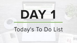 Day 1: To Do List