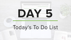 Day 5: To Do List