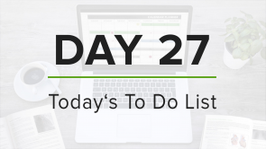Day 27: To Do List
