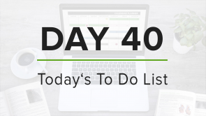 Day 40: To Do List