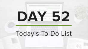 Day 52: To Do List