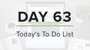 Day 63: To Do List