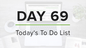 Day 69: To Do List