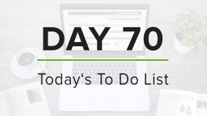 Day 70: To Do List
