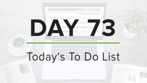 Day 73: To Do List