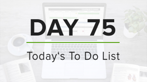 Day 75: To Do List