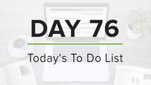 Day 76: To Do List