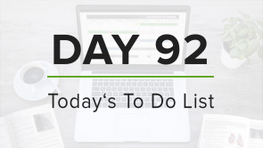 Day 92: To Do List
