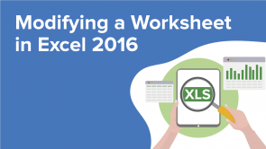 Modifying a Worksheet in Excel 2016 (EN)