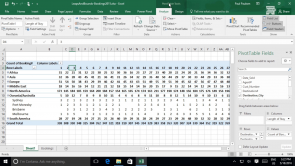 Analyzing Data by Using Pivot Tables in Ecxcel 2016 (EN)