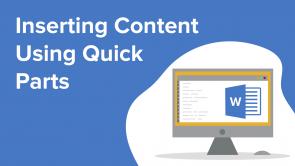 Inserting Content Using Quick Parts (EN)