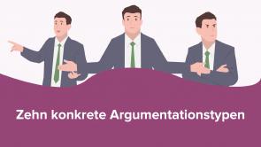 Zehn konkrete Argumentationstypen