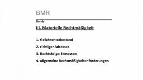 Verwaltungsrecht Besonderer Teil - Polizei- und Ordnungsrecht Hessen