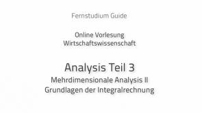 Analysis für Wirtschaftsmathematik III