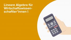 Lineare Algebra für Wirtschaftswissenschaftler*innen I