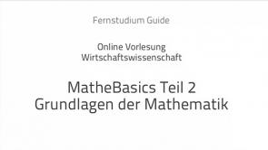 Mathe lernen: Die Grundlagen II