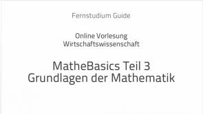 Mathe lernen: Die Grundlagen III