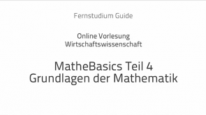 Mathe lernen: Die Grundlagen IV