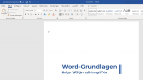 Word 2019 und 365: Grundlagen