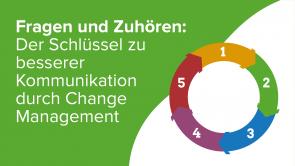 Fragen und Zuhören: Der Schlüssel zu besserer Kommunikation durch Change Management