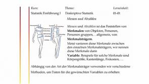 Archiv Grundlagen Statistik
