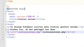 PHP - Cookies und Sessions