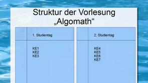 Algorithmische Mathematik   Vorkurs für die Kurseinheiten 1-3