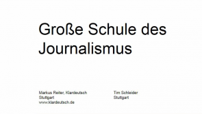 Große Schule des Journalismus