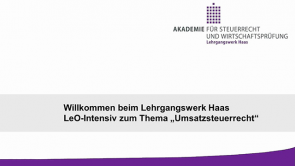 Umsatzsteuer - Lehrgangswerk Haas (2013 / 2014)
