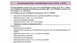 1. Erbschaftsteuer (2013 / 2014)