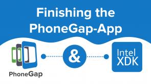 Finishing the PhoneGap-App