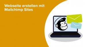 Webseite erstellen mit Mailchimp Sites