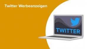 Twitter Werbeanzeigen