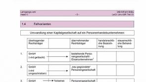 1. UmwStG - Umwandlung von Kapitalgesellschaften (2013 / 2014)