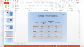 Adding Tables to Your Presentation in PowerPoint 2013