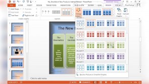 Adding SmartArt to a Presentation with PowerPoint 2013