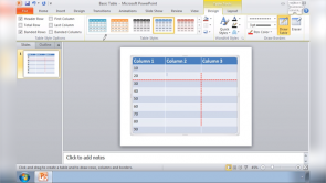 Using Tables in Powerpoint 2010