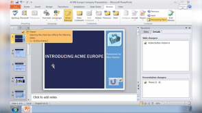 Organize Presentations in PowerPoint 2010