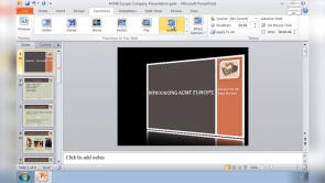 Transitions in PowerPoint 2010