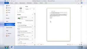 Print with Word 2010