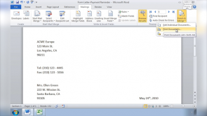 Create Mail Merge Documents in Word 2010