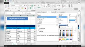 Formatting a Worksheet in Excel 2013