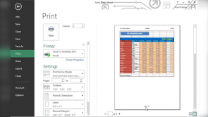 Printing Workbook Contents in Excel 2013