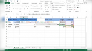 Analyzing Data with Logical Functions in Excel 2013