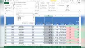 Organizing Worksheet Data with Tables