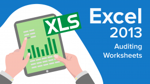 Auditing Worksheets in Excel 2013