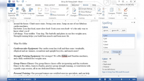 Proofing a Document in Word 2013