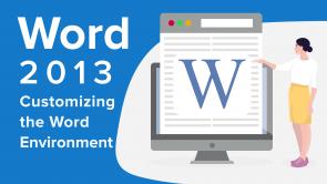 Customizing the Word Environment