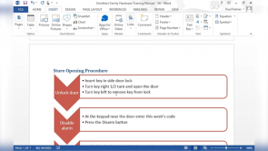 Inserting Content Using Quick Parts in Word 2013