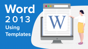 Using Templates in Word 2013